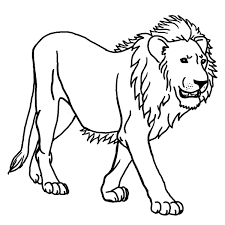 simple lion animal coloring pages for kids to print u0026 color