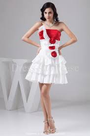 occasion dresses ruched homecoming line short white red dress red
