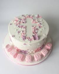 christening cakes ditsy flower baby girl christening cake with letter