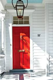 paint your front door and shutters inside red bright color paint