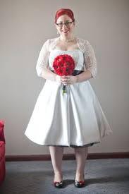 wedding dresses edinburgh vintage style white pink tea length 1950s rockabilly wedding dress