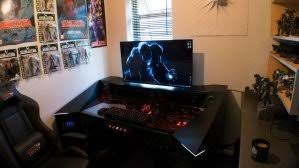 Custom Gaming Desk Finished Custom Diy Industrial Pipe Desk For Gaming And Design