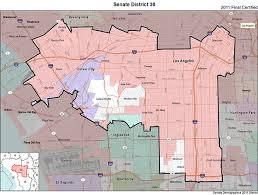 map of inglewood california senate district 30 senator mitchell