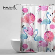 Removable Shower Curtain Rod by Curtains Pink Flamingo Bathroom Accessories Flamingo Shower