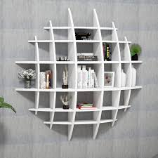 elips high gloss wall shelving unit white achica