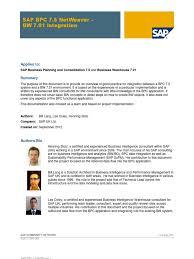 sap bpc 7 5 netweaver bw 7 01 integration pdf microsoft excel