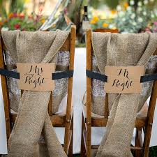 mr and mrs table decoration mr and mrs kraft chair back banners