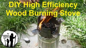 how to make a super efficient gasifier wood stove for survival