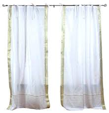 Tie Top Curtains White Tie Top Curtains Rabbitgirl Me