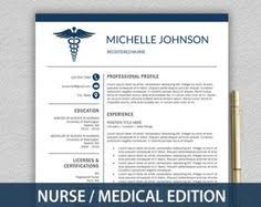 Doctor Resume Examples by Nurse Resume Template For Word U0026 Pages 1 2 By Landeddesignstudio
