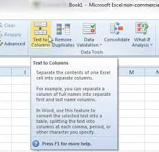 how to split data into two columns in excel onepagecrm help center