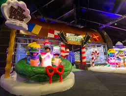 the lights festival houston 2016 the krusty krab made entirely of ice at moody gardens ice land ice