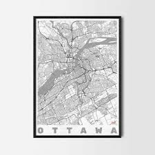 ottawa gift map art prints and posters home decor gifts