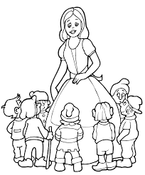 snow white coloring pages print coloring