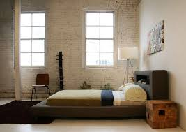 Simple Minimalist Bedroom Design With Nice Low Profile Bed - Minimalist bedroom designs