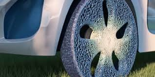 Airless Tires For Sale Car Tyre Used This Weirdo Tie Dye Sponge Is Michelin U0027s Dream Tire