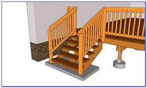 Exterior Stair Railing by Building A Deck Stair Railing Decks Home Decorating Ideas