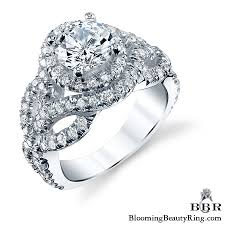 twisted halo engagement ring twist halo engagement ring bbr592 unique