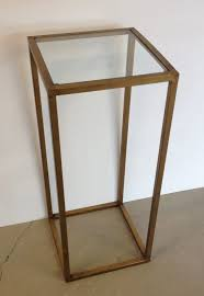 plant stand mosaic plant stand table gilt metal with glass top