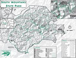 Turkey Mountain Map South Mountain State Park Maplets
