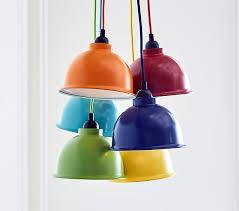 multi colored light fixture multi color mini pendant pottery barn kids