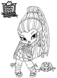 monster high coloring pages baby clawdeen eliolera com