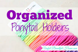ponytail holders tip organized elastic ponytail holders easy and efficient