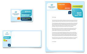 Business Card Microsoft Word Cleaning Services Business Card U0026 Letterhead Template Word
