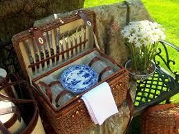 Picnic Basket Set For 4 Beaux Mondes Designs Spring Time Basket Case