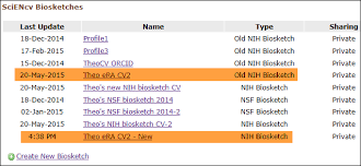 sciencv u2014 converting profiles that use the old nih biosketch