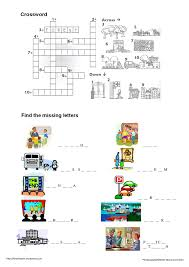 the city worksheet english scholl pinterest vocabulary