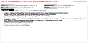 Administrator Resume Sample by Sharepoint Administrator Resume Sample