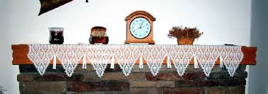 mantel scarf crochet memories crochet mantel scarf patterns