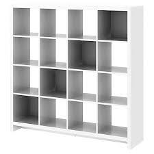 16 Cube Bookcase White Kathy Ireland New York Skyline Plumeria White Ships Free
