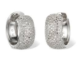 diamond huggie earrings wide diamond huggie hoop earrings in sterling silver top 50