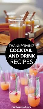 thanksgiving cocktail and drink recipes wine cocktails