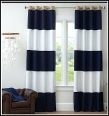 Rugby Stripe Curtains Navy Blue Striped Curtains Teawing Co