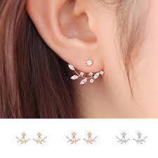 back stud earrings fashion clean ear jacket ear cuff earrings kc back