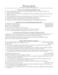 Resume For Internship In Finance Masayasu Hayashi Finance And Consulting Internship Resume