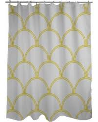 Circles Shower Curtain Spectacular Deal On Thumbprintz Deco Circles Grey And Yellow
