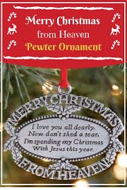 christmas in heaven ornament christmas tree cut out