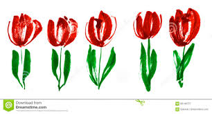 conceptmodern color paint concept modern tulip flower sketch stock illustration