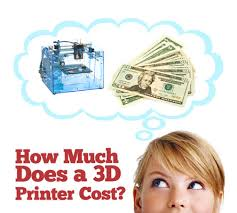 how much does it cost ink how much does a 3d printer cost