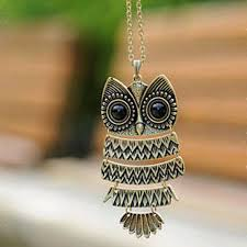 vintage owl pendant necklace images Kiss wife fashion accessories jewelry new owl pendant long chain jpg