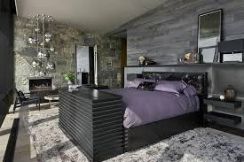 chambre a coucher violet et gris chambre à coucher chambres coucher lluxe gris violet lit
