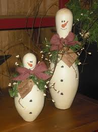 Fun Projects To Do At Home by Bowling Pin Snowmen Ask At Your Favorite Bowling Alley They