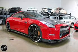 red nissan car red nissan gt r black edition adv5 track spec cs wheels adv 1