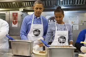 obama celebrates mlk holiday visits soup kitchen