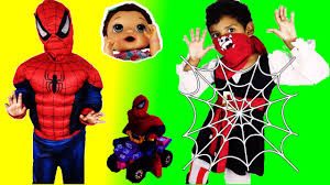 spider man rescue baby alive from pirate w spider man