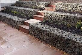 awesome gabion garden wall gabion retaining walls stone wall ideas